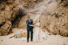 Big Sur Elopement. The best of both worlds, with the crashing waves and sea breeze then minutes away from redwoods in the forest! The most romantic place for your adventure. Big Sur California, California Wedding, Glen Oaks, Man And Wife, Most Romantic Places, Beach Elopement, Crashing Waves, Beautiful Day, Breeze