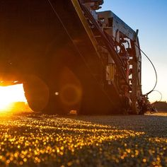 Low angle of our #turf #harvester this #morning at #sunrise. The turf is cut in to slabs, then stacked on to #pallets ready for delivery. There's nothing like a #fresh #newlawn delivered within hours of harvest from the #turffarm! #twinviewturf #lawnsolutionsaustralia #grass  #sunrays #sunshine #sunshinecoast #brisbane #goldcoast #nature #naturelovers #instamood #instagood #photography