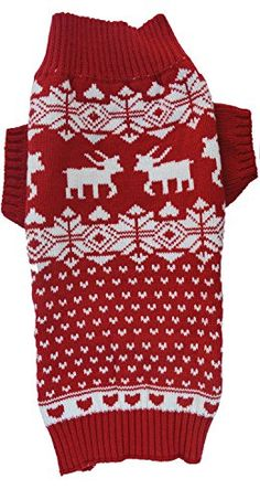 Red Christmas Reindeer Holiday Festive Dog Sweater for Large Dogs, X-Large (XL) Size http://dogpoundspot.com/wp-content/uploads/2015/12/51XroLwDgwL.jpg Perfect as your pooch's Santa Xmas gift.Classic dog sweater cold winter clothes warm and cozy    Read  more http://dogpoundspot.com/red-christmas-reindeer-holiday-festive-dog-sweater-for-large-dogs-x-large-xl-size/