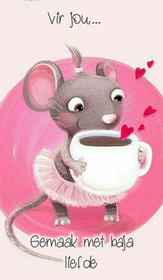 Pins Cute Good Morning Quotes, Good Morning Wishes, Happy Birthday Pictures, Happy Birthday Wishes, Good Morning Christmas, Lekker Dag, Beautiful Good Night Images, Cute Cartoon Images, Afrikaanse Quotes