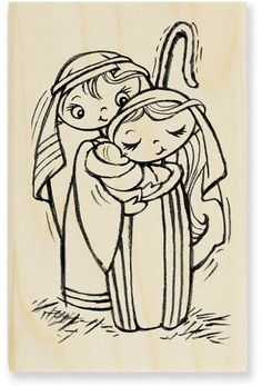Stampendous Precious Nativity (Christmas) - Rubber Stamp