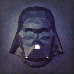 Sculpture cadre Dark Vador en papier - Paper frame Darth Vader Sculpture #paper #papier #papercut #papercraft #pepakura #vector #sculpture #design #polygon #lowpoly #frame #vader #vador #darthvader #darkvador #starwars #starwarsVII #theforceawakens