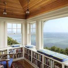 Mini library with a view