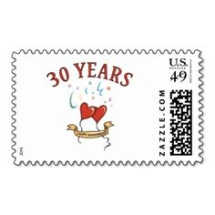 Wedding Anniversary Gifts Online Delivery : Sunshine Hearts 30th Wedding Anniversary Party Stamps. This great ...