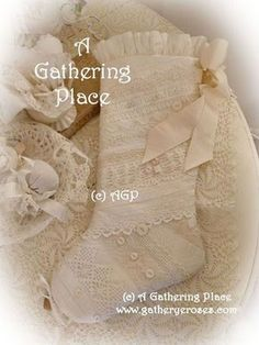 VINTAGE LACE CHRISTMAS STOCKINGS - Romantic Keepsakes For You