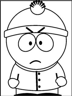 Cartoon Character South Park coloring picture for kids | South ...