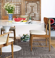 Flor carpet-design squares are made from 100 percent recycled fibers.
