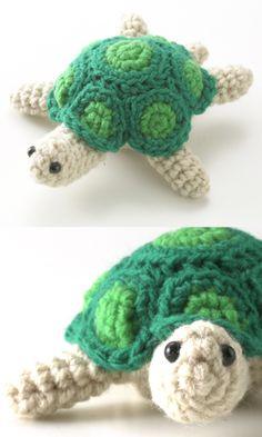Turtle - Free crochet pattern  |  http://gosyo.co.jp/english/pattern/eHTML/ePDF/1103/3w/27-175C_Turtle_amigurumi.pdf