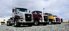 #Caterpillar #CT660 trucks on display