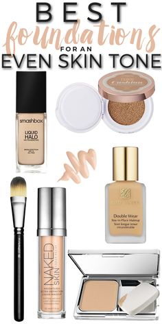 The best foundations to help even skin tone that also last all day!