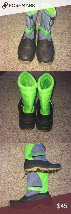 Lands end ski boots size 7 men/9.5 women Wore for 5 days on a ski trip. These are men's size 7 but I wear a 9-9.5 women's . Adorable heavy duty Lands end boots perfect for northern winters or ski trips! Guc smoke free home dog mom Lands' End Shoes Boots