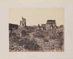 Ruins of Palace, Bijapur, India, circa 1855.