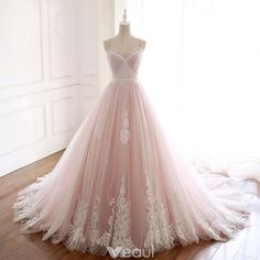 Princess Pink Straps Long Prom Dress with Train, 2019 Gogreous Prom Dress Ball G… Prinzessin Rosa Träger Langes Abendkleid mit Schleppe, Gogreous Ballkleid mit Ballkleid Wedding Dresses 2018, Pink Prom Dresses, Quinceanera Dresses, Ball Dresses, Pretty Dresses, Beautiful Dresses, Dress Prom, Dress Long, Pink Ball Gowns