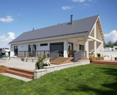 Future House, My House, Modern Barn House, Small Cottages, Passive House, Backyard, Patio, Home Fashion, Curb Appeal