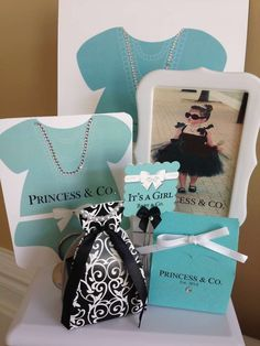 Breakfast at Tiffany's Baby Shower Party Ideas!  See more party planning ideas at CatchMyParty.com!