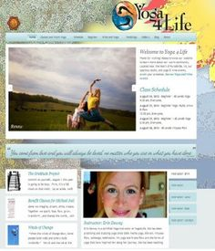 Unique website design for Yoga 4 Life, a Purcellville based yoga studio with 2 locations. Learn more about Y4L at: http://yogafourlife.com.