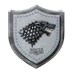 Game of Thrones Stark Direwolf House Crest Wall Plaque