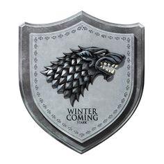 Game of Thrones Stark Direwolf House Crest Wall Plaque