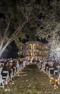 night time ceremony under the oaks nottoway plantation event venueswedding