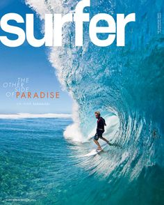 Surfer magazine is a magazine that shows the worlds best surf breaks and updates people about sall the pros who get to surf it (James Moseley) Poster Layout, Surf Vintage, Wind Surf, Surfer Magazine, Surfing Pictures, Beach Aesthetic, Surf Style, Surfs Up, Outdoor Art