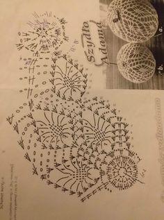 Crochet Christmas Decorations, Christmas Tree Baubles, Crochet Christmas Ornaments, Christmas Crochet Patterns, Holiday Crochet, Crochet Snowflakes, Christmas Crafts, Crochet Diagram, Crochet Chart