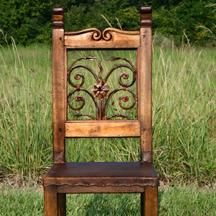 Chairs made from recycled architectural salvage At West End, beautiful~