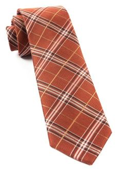 Marshall Plaid Ties - Burnt Orange | Ties, Bow Ties, and Pocket Squares | The Tie Bar