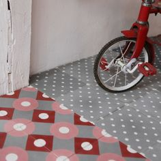 Baldosas de cemento 'Billy gris', de Petit Pan, Paris