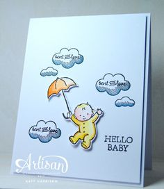 Stampin Up Moon Baby, Lift Me Up and Sealed with Love stamp sets (Katy Harrison - Stampin Shed) Baby Diy Projects, Diy Projects To Try, Love Stamps, Clear Stamps, Baby Shower Cards, Baby Cards, Album, Cool Baby Names, Baby Bundles
