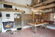 Wooden Barn, Smoke Alarms, Heating And Air Conditioning, House Beds, Old Barns, Traditional House, Country Kitchen, Bed And Breakfast, Architecture