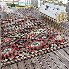 Cleobury Red/Orange/Black Rug World Menagerie Rug size: Rectangle 80 x Outdoor Carpet, Indoor Outdoor Area Rugs, Outdoor Living, Black Rug, White Rug, Duck Egg Blue Rugs, Rug World, Yellow Rug, Interiors