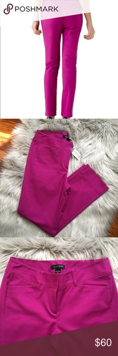 """White House Black Market City Pant New With Tag size 2Reg Ankle (or petite) White House Black Market City Pant in Very Berry (Fuchsia). Rise 8.5"""" Inseam 27"""" - See photo for materials and care. White House Black Market Pants"""