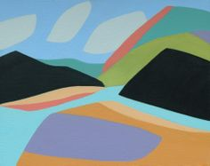 Coast Pattern #1 by Gregg Simpson. I love the way Gregg Simpson's lanscapes. The colours and shapes are wonderful. They add a touch of class to any room.