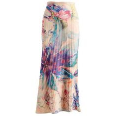 Casa Lee Taupe & Purple Floral Ribbed Maxi Skirt ($18) ❤ liked on Polyvore featuring skirts, floral maxi skirt, long floral skirts, purple skirt, maxi skirt and long colorful maxi skirts