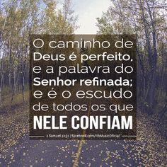 """""""O caminho de Deus é perfeito, e a palavra do Senhor refinada; e é o escudo de todos os que nele confiam"""" (2 Samuel 22:31)"""