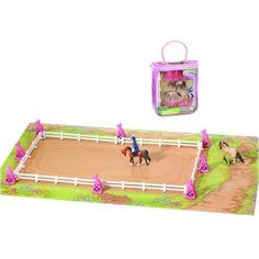 Breyer(R) Mini Whinnies Sunshine State Dressage Festival Play Set by Reeves International Inc.. $9.99. Recommended for ages 4 and up.. Breyer Mini Whinnies line. includes dressage arena, two horses, a rider and play mat. Discover a world of equine competition in a carrying case! Have fun performing in the ballet of the horse world at the Sunshine State Dressage Festival. Perfect your patterns by using the flagged dressage markers as your guide. Set includes dres...