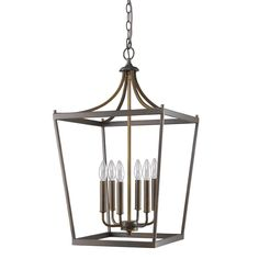 acclaim lighting kennedy indoor 6light oil rubbed bronze chandelier