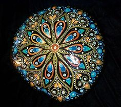 Beautiful Handpainted Mandala Rock for Meditation Crystal Gazing Tantric Focus | eBay