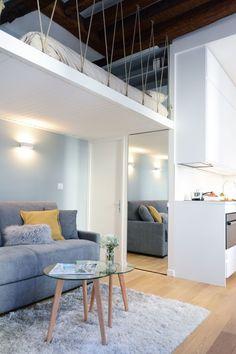 Loft Mezzanine, Mezzanine Design, Mezzanine Bedroom, Bedroom Loft, Loft Spaces, Small Spaces, Mezanine Floor, Studio Paris, Deco Studio