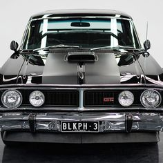 Star attraction: the Gosford museum features a rare Onyx black Ford Falcon GTHO Phase Australian Muscle Cars, Aussie Muscle Cars, Old American Cars, Ford Girl, Ford Falcon, Performance Cars, Car Ford, Amazing Cars, Awesome