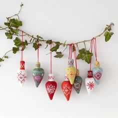 Cone Baubles, downloadable design from Nancy Nicholson