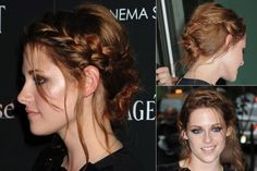 Kristen Stewart - Best, celebrity, updo, updos, up, do, hair, hairstyle, hairstyles, hairdos, a-list, inspiration, red carpet, party, wedding, bun, plait, beauty, Marie Claire