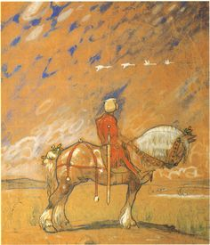 John Bauer 1907 study for 'Ut i vida världen' (Into the wild world) John Bauer, Fairy Land, Fairy Tales, Poppy And Branch, Art Et Illustration, Book Illustrations, Kids Poster, Hirst, Troll