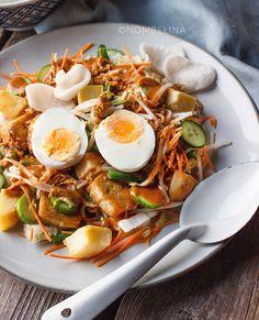 Gado gado - Food Blog Challenge #9 - Nombelina.com Gado Gado, Asian Recipes, Ethnic Recipes, Food Blogs, Crochet Flowers, Soul Food, Slow Cooker, Challenges, Pasta