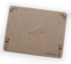 100 pcs Scroll Imprint Hair Clip Display Card in Brown Kraft Paper for Hair Accessories and Jewelry for DIY(DC-20)