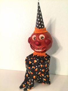 Vintage Inspired Pumpkin Head Doll