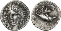 Tetradrachm from Klazomenai, Ionia, C. 370 BCObverse: Head of Apollo facing, inclined slightly to left, wearing a laurel-wreath. Reverse: KΛAIOMENION (only partially visible), swan standing to left with its wings open and its head turned back to face...