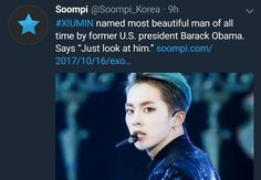 *Stands in sheer awe* MY EXO BIAS HAS BEEN CONFIRMED BY THE EX PRES OF THE US OF A YALL GET ON BOARD!!