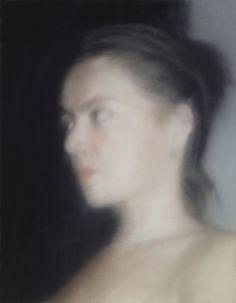 Kopf (Skizze) - Gerhard Richter Öl auf Leinwand