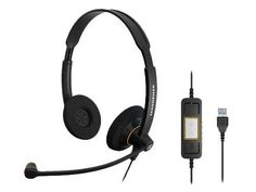 Sennheiser Electronic Corporation - Sennheiser Sc 60 Usb Ctrl Headset - Stereo - Black - Usb - Wired - 60 Hz - 16 Khz - Over-The-Head - Binaural - Supra-Aural - Ft Cable - Noise Cancelling Microphone Product Category: Audio Electronics/Headsets Microsoft Lync, Unified Communications, Usb, Audio, Gaming Headset, Noise Cancelling, In Ear Headphones, Electronics
